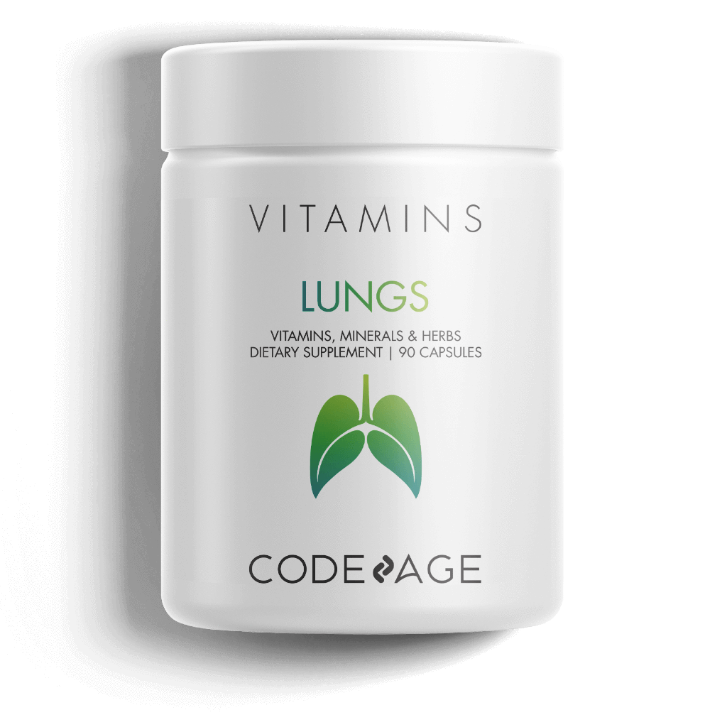 Lungs vitamins, respiration, breathing, health supplement