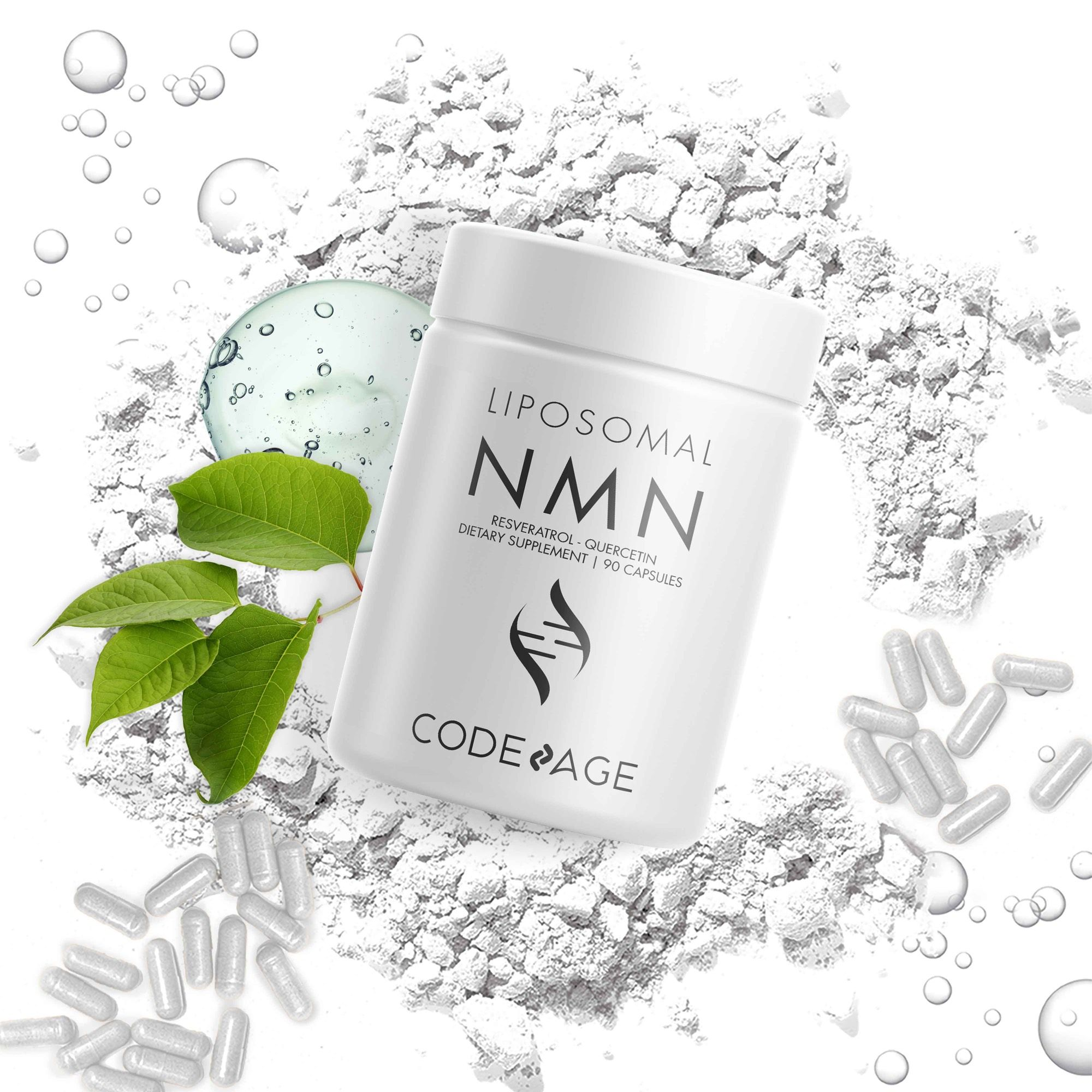 Codeage Liposomal NMN with Resveratrol supplement and Quercetin capsules